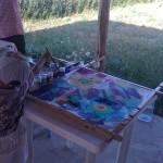 роспись на шелковых платках